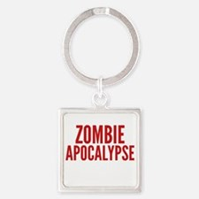 ZombieApHard1E Square Keychain