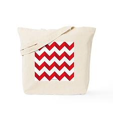 Chevron Red Zig Zag Tote Bag
