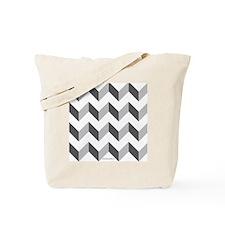 Chevron Grey Zig Zag Tote Bag