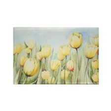 Nathalies Tulips Rectangle Magnet