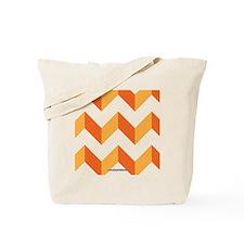 Chevron Orange Zig Zag Tote Bag