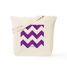 Chevron Purple Zig Zag Tote Bag