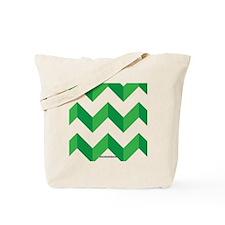Chevron Green Zig Zag Tote Bag