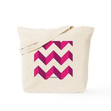 Chevron Pink Zag Zag Tote Bag