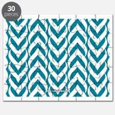 Chevron Zig Zag Pattern Teal Puzzle