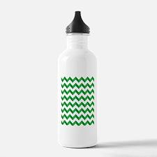 Chevron Green Zig Zag Water Bottle