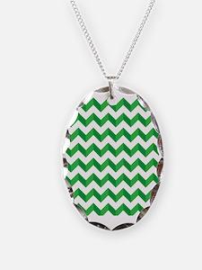 Chevron Green Zig Zag Necklace
