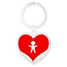 growing in my heart Heart Keychain