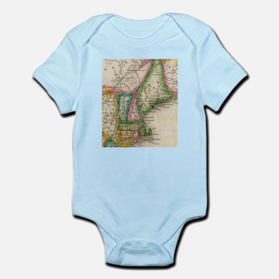 Vintage Map of New England (1822) Body Suit