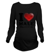 I Heart Male, Maldiv Long Sleeve Maternity T-Shirt