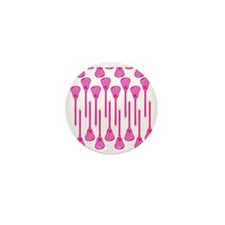 Pink Lacrosse Stick Pattern Mini Button