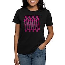 Pink Lacrosse Stick Pattern Tee