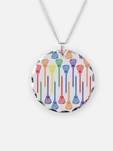 Rainbow Lacrosse Stick Patte Necklace