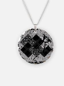 Larissa - Black and White Ca Necklace