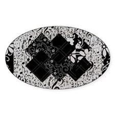 Larissa - Black and White Card Tric Decal
