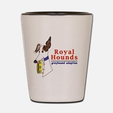 Royal Hounds Greyhound Adoption Logo (R Shot Glass