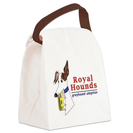 Royal Hounds Greyhound Adoption L Canvas Lunch Bag