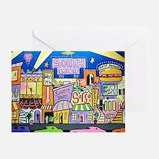 Design #32 SOuth Beach Miami Nightli Greeting Card