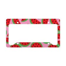 Cute Watermelon on Summer Col License Plate Holder