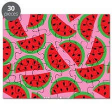 Cute Watermelon on Summer Colors (5) Puzzle