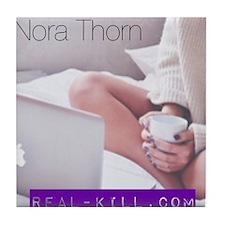 Nora Thorn logo Tile Coaster