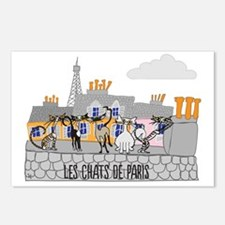 The Cats of Paris - Les C Postcards (Package of 8)