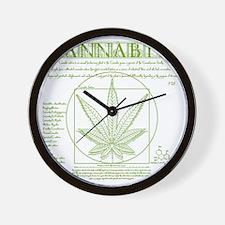 Vitruvian Grass Wall Clock