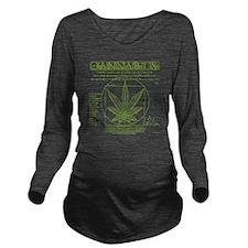 Vitruvian Grass Long Sleeve Maternity T-Shirt