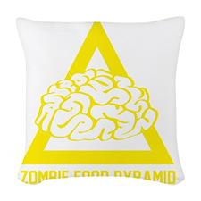 ZombieFoodPyramid1E Woven Throw Pillow