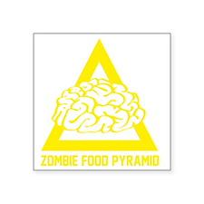 "ZombieFoodPyramid1E Square Sticker 3"" x 3"""