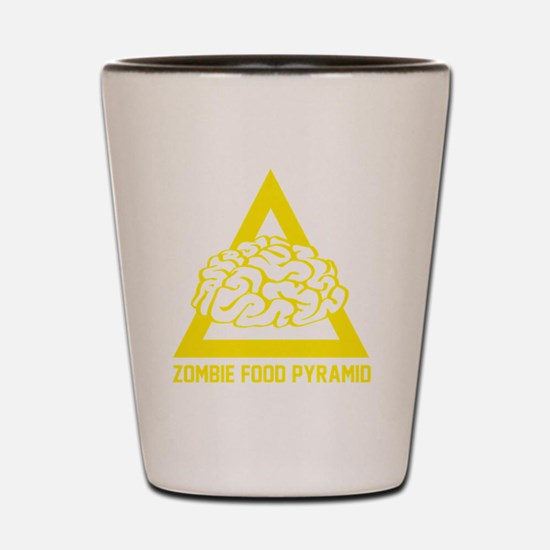 ZombieFoodPyramid1E Shot Glass