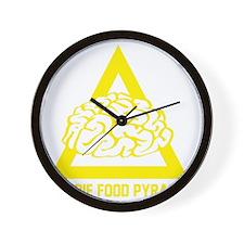 ZombieFoodPyramid1E Wall Clock