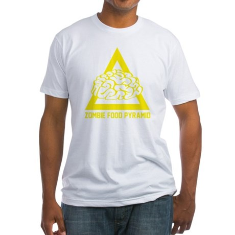 ZombieFoodPyramid1E Fitted T-Shirt