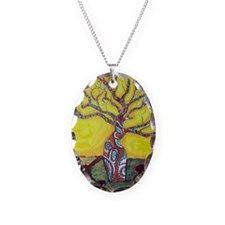 Boab Tree Bright Necklace Oval Charm