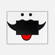 mustache face design with red tongue Picture Frame