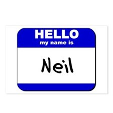 hello my name is neil  Postcards (Package of 8)