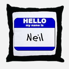 hello my name is neil  Throw Pillow