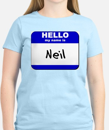 hello my name is neil T-Shirt