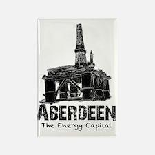 Aberdeen - the Energy Capital (bl Rectangle Magnet