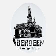 Aberdeen - the Energy Capital (black Oval Ornament