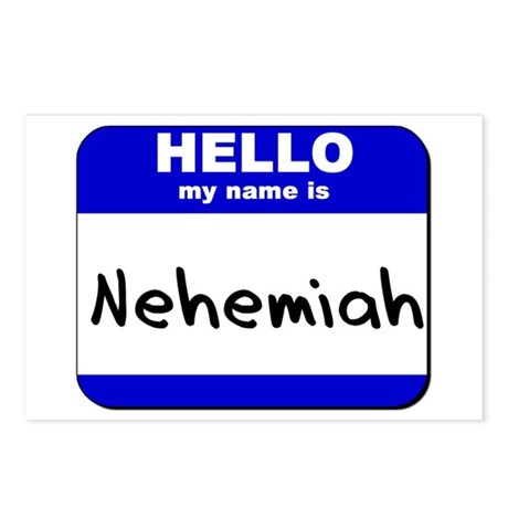 hello my name is nehemiah Postcards (Package of 8