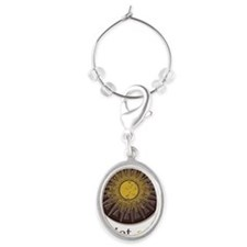 Quiet Sun Logo (Largest) Oval Wine Charm