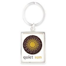 Quiet Sun Logo (Largest) Portrait Keychain