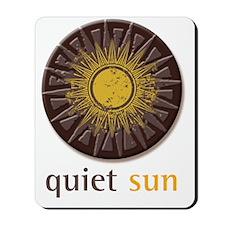 Quiet Sun Logo (Largest) Mousepad