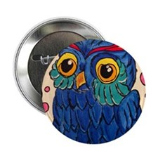 "Blue Owl 2.25"" Button"