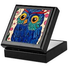 Blue Owl Keepsake Box