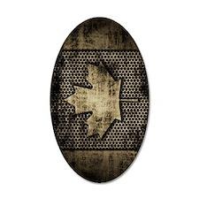 Canadian Flag Grunge Metal Decal Wall Sticker