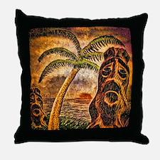 Tiki Island 9-12 Throw Pillow