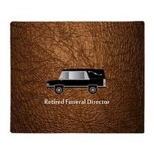 retired funeral director wallet 3 Throw Blanket
