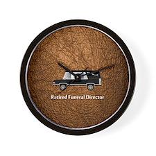 retired funeral director wallet 3 Wall Clock
